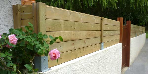 Pose de clôture en bois en Yvelines