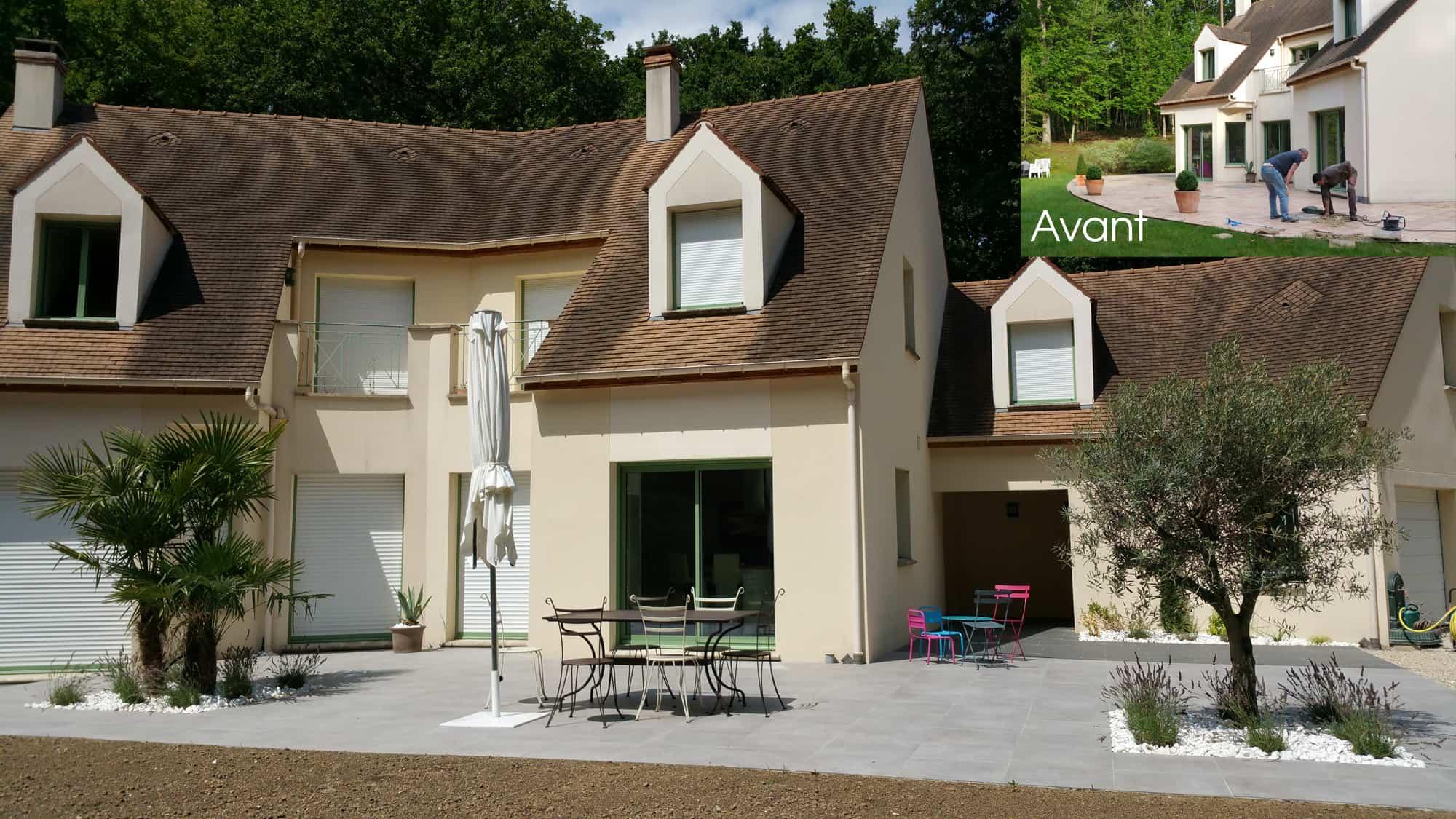 Rénovation d'un dallage de terrasse en Yvelines (78)