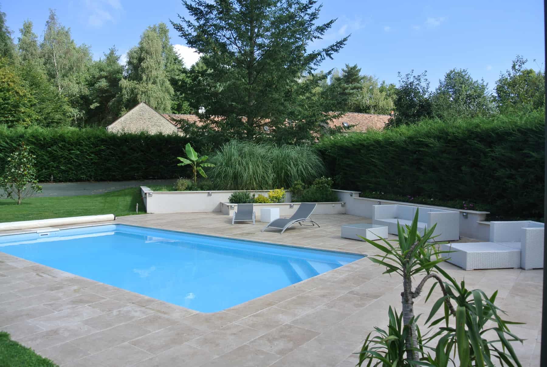 Rélisation dallage de terrasse de piscine en Yvelines (78)